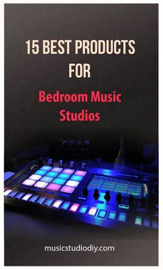 A great list of bedroom music studio ideas. We discuss a variety of products and electronic gadgets ideal for smaller music rooms. Beginner music producers would benefit from taking a look that the music production equipment ideas. Music Studio Decor, Home Recording Studio Setup, Home Studio Setup, Home Studio Musik, Audio Studio, Music Production Equipment, Music Production Studio, Music Desk, Recorder Music