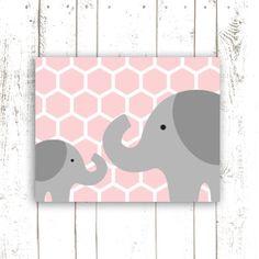 Elephant Nursery Art Print PRINTABLE File by MooseberryPrintables, $5.00