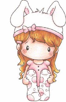 """C.C. Designs Swiss Pixie """"Bunny Lucy"""" Rubber Stamp"""