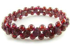 BA7592 Garnet Rose Shape Healing Natural Crystal Stretch Bracelet - See more at: http://waggashop.com/wagga-shop-ba7592-garnet-rose-shape-healing-natural-crystal-stretch-bracelet