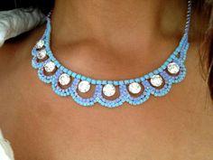 She Sell Seashells Rhinestone Necklace by SophiaDarlingVintage, $44.00