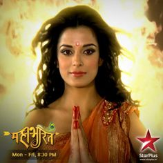 She looks gorgeous and has dazzling lotus eyes... King Draupad's daughter, Draupadi, arrives on #Mahabharat!