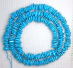 "Sleeping Beauty Turquoise Small Pebble Beads Blue Craft Jewelry 18"" Std Lot 286 #SleepingBeauty #Southwest"