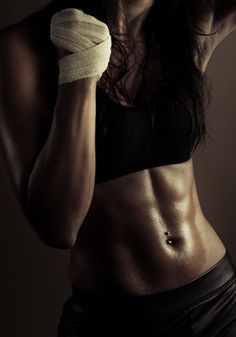 The core of a fighter. boxing, MMA, Sexy, Female, Girl, Chick, Woman, Portrait, Sweaty, Hot, Training, Fighting, Fit, Fitness
