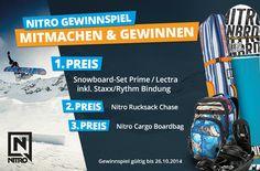 NITRO Gewinnspiel: Mitmachen und tolle Sachpreise gewinnen ... http://www.snowlab.de/gewinnspiel.php #Nitro #Gewinnspiel #Snowlab