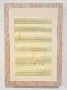 Nathan Suniula, 'turquoise green yellow', acrylic on ply wood panel, 2016