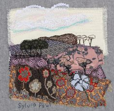 Textile Art of Landscape with Flowers £120.00