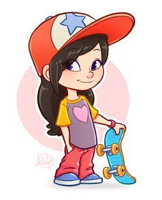 Little Skater by LuigiL on DeviantArt