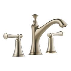 Brizo 65305LF-LHP Baliza Widespread Bathroom Faucet with Pop-Up Drain Assembly - Brilliance Brushed Nickel Faucet Lavatory Double Handle