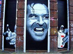 Shining street art