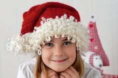 Free Santa hat knitting pattern
