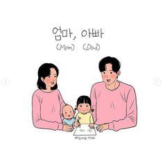 Family Drawing, Singing, Songs, Korea
