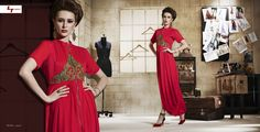 Hot red kurti available @theivoryneedle Call/whatsapp +919600639563 for booking. #fashion #trend #glam #red #tunics #loveit