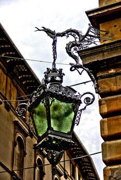 Dragon holding lamp_Reggio Emilia, Province of Reggio Emilia , Calabria region Italy