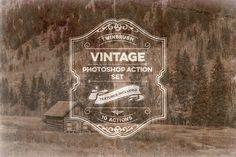 Vintage Effect Photoshop Action Set by Twinbrush Image Forge on @creativemarket