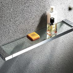 Elegant glass shower shelf wall mount. Glass construction with frame in brass. Ideal for install in shower or bathrooms that provide additional storage space. This shelf with modern look may be just the right accent for your contemporary décor. It will resist corrosion, work hard, look great and last for years. From our own design Edition K collection. We recommend your installation in solid walls (tile, concrete, marble, porcelain, etc.) Wine Glass Shelf, Glass Shelves In Bathroom, Floating Glass Shelves, Easy Bathroom Updates, Simple Bathroom, Bathroom Accesories, Modern Wall, Modern Glass, Wood Joinery