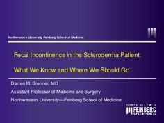 Fecal Incontinence in the Scleroderma Patient