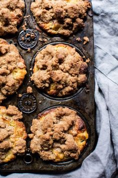 Zucchini Peach Streusel Muffins - from Half Baked Harvest Muffin Recipes, Brunch Recipes, Sweet Recipes, Breakfast Recipes, Dessert Recipes, Desserts, Fall Recipes, Bread Recipes, Peach Muffins