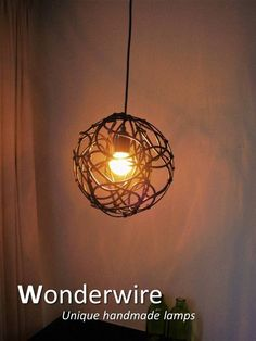 Wire 25cm pendant lamp created by Wonderwire.
