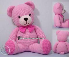Вязание крючком розового медвежонка. Любительницам вязания крючком игрушек амигуруми хочу предложить связать весьма симпатичного розового медвежонка.