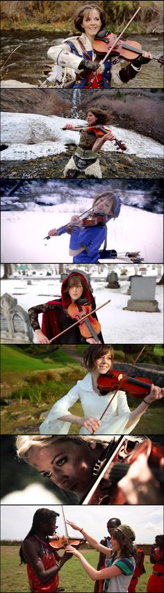 """The Faces of Lindsey Stirling - Imgur"" My brother loves her she is very talented :)"