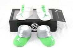 Nike Air Jordan Newborn Infant Baby Booties Socks White and Blue w/Air Jordan Logo Size 0-6 Months by Shoes 99