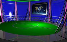 News for TV channels or modern virtual sets that are required for any night show.