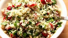 try this cranberry-curry couscous.it's healthy, flavorful and easy to make! Couscous Salad Recipes, Healthy Salad Recipes, Raw Food Recipes, Cooking Recipes, Yummy Recipes, Curried Couscous, Pine Nut Recipes, Quinoa Dishes, Curry