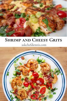 When it comes to Southern Cuisine, Shrimp and Cheesy Grits are at the top of my list. Try my easy to make recipe for this classic southern dish and watch the smiles at your table. Slow Cooker Recipes, Beef Recipes, Cooking Recipes, Zone Recipes, Shrimp And Cheesy Grits, Chicken And Beef Recipe, Best Seafood Recipes, Shrimp Recipes, Kitchens