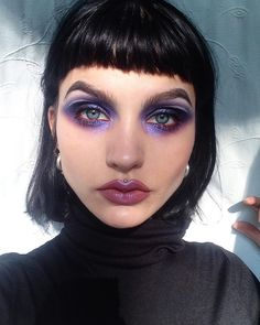 although i dont know if this would make my brown eyes pop like this! Makeup Inspo, Makeup Art, Makeup Inspiration, Makeup Tips, Beauty Makeup, Hair Beauty, Punk, Brown Eyes Pop, Alien Makeup
