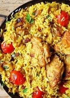 Low FODMAP Recipe and Gluten Free Recipe - Chicken pilaf - http://www.ibs-health.com/chicken_pilaf.html