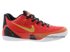 new concept 62956 9ea48 Chaussures Nike BasketBall Pas Cher Pour Femme Officiel Nike Kobe 9IX Low  Rouge UniversitéNoir-Or Métallique 683251-670