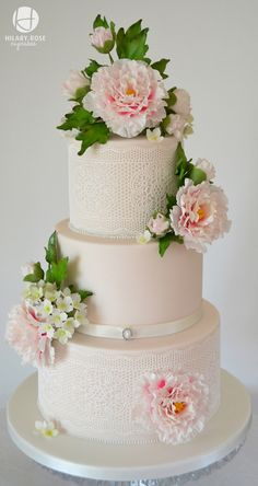 Peony And Lace on Cake Central