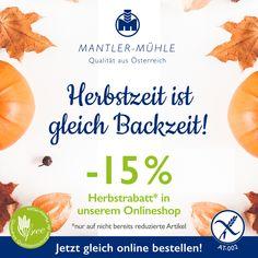 Last call ❣️ Nur bis Sonntag gibt's noch Zeit für unseren speziellen Herbstrabatt: ⠀ -15% auf alle Bestellungen aus Österreich & Deutschland (nur auf nicht bereits reduzierte Artikel) in unserem Online-Shop! 🍂⠀ 👉🏻 Am Ende des Bestellprozesses können Sie den Code: herbst2020 einlösen. 🍁⠀ 👉🏻 Mehr auf www.mantler-glutenfrei.com! ⠀ Happy Baking! Glutenfree Bread, New Coming, Cantaloupe, Fruit, Food, Gluten Free Flour, Germany, Sunday, Essen