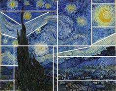 How to paint Van Gogh's Starry Night?
