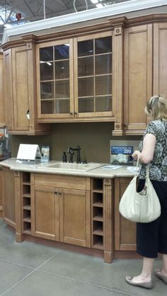Interesting cabinets with the nice crown molding
