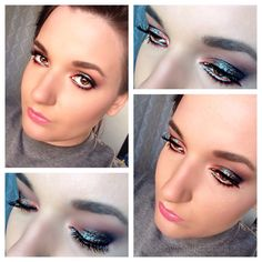 Colorful and Sparkly Makeup