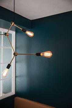 MENU Franklin Chandelier Lamp, Tribeca Series design by Søren Rose. Restaurant Italy, interior design by Norm Architects https://simonjamesdesign.com/menu/