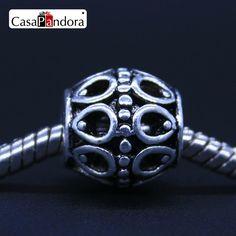 CasaPandora European Fashion 925 Placcato Hollow Modello Misura il Braccialetto di Fascino DIY Monili Che Fanno
