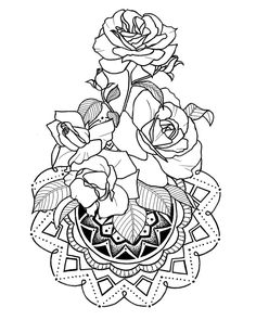 Свободный эскиз #эскиз #арт #розы #цветы #мандала #татуировка #эскизтату #индивидуальныйдизайн #контуры #иллюстрация #tattoo #tattoodrawing #drawing #art #tattooart #lines #rose #flower #mandala #flowertattoo #illustration #design #flowerillustration