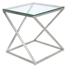 4Z Stainless Steel Modern End Table - Overstock™ Shopping - Great Deals on LumiSource Coffee, Sofa & End Tables