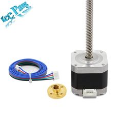 Compare Price Nema 17 Stepper Motor with Cable Lead Screw Trapezoidal Nuts Part For CNC Z Axis Linear Printers Parts Set Cnc, T8 Led, Cable, 3d Printer Parts, Stepper Motor, Trap, Printers, 3d Printer, Motors
