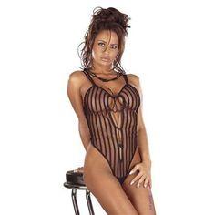 Полосатое боди Шадов с вырезами  #женское #эротическое #сексуальное #белье #боди в ExtazShop.ru