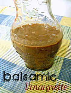 Balsamic Vinaigrette... Love this dressing. Used 1/4 c of apple cider and 1/4 c of balsamic vinegar. Also added 2T of honey.
