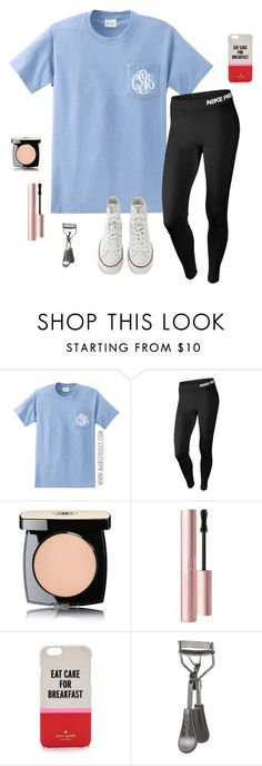 """""""What I wish I was wearing"""" by laurenemcclain ❤ liked on Polyvore featuring mode, NIKE, Chanel, Too Faced Cosmetics, Kate Spade, Topshop et Converse"""