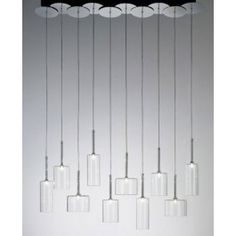 The+Spillray+10+suspension+light+from+has+been+designed+by+Manuel+Vivian+for+Axo.+A+combination+of+ten+diffusers+hang+from+the+ceiling+canopy+to+creating+an+artistic+piece.+Available+in+four+different+glass+color+options.+This+fixture+requries+10+x+LED+G4+1.5W