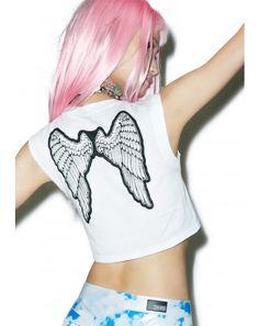 #DollsKill #Festival #Coachella #lookbook #photoshoot #model #24HRS xXxclusive At Heaven's Gate #crop #top #wings
