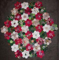 ProsperityStuff Christmas Hexagons Quilt Top