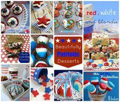 Ten Beautifully Patriotic Desserts - @Ang Paris #patriotic #desserts http://jugglingactmama.com/2013/07/ten-beautifully-patriotic-desserts.html