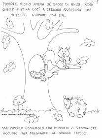 maestra Nella: Storia d'autunno Fall Coloring Pages, Doodle Coloring, Creta, Step Kids, Spring Art, Autumn Trees, Fall Crafts, Baby Quilts, Squirrel
